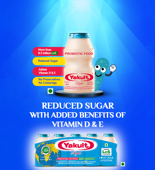 Yakult Light Reduced Sugar With Vitamin D&E
